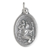Religious Pendant St.christoph Pray For Us Nickel with ring